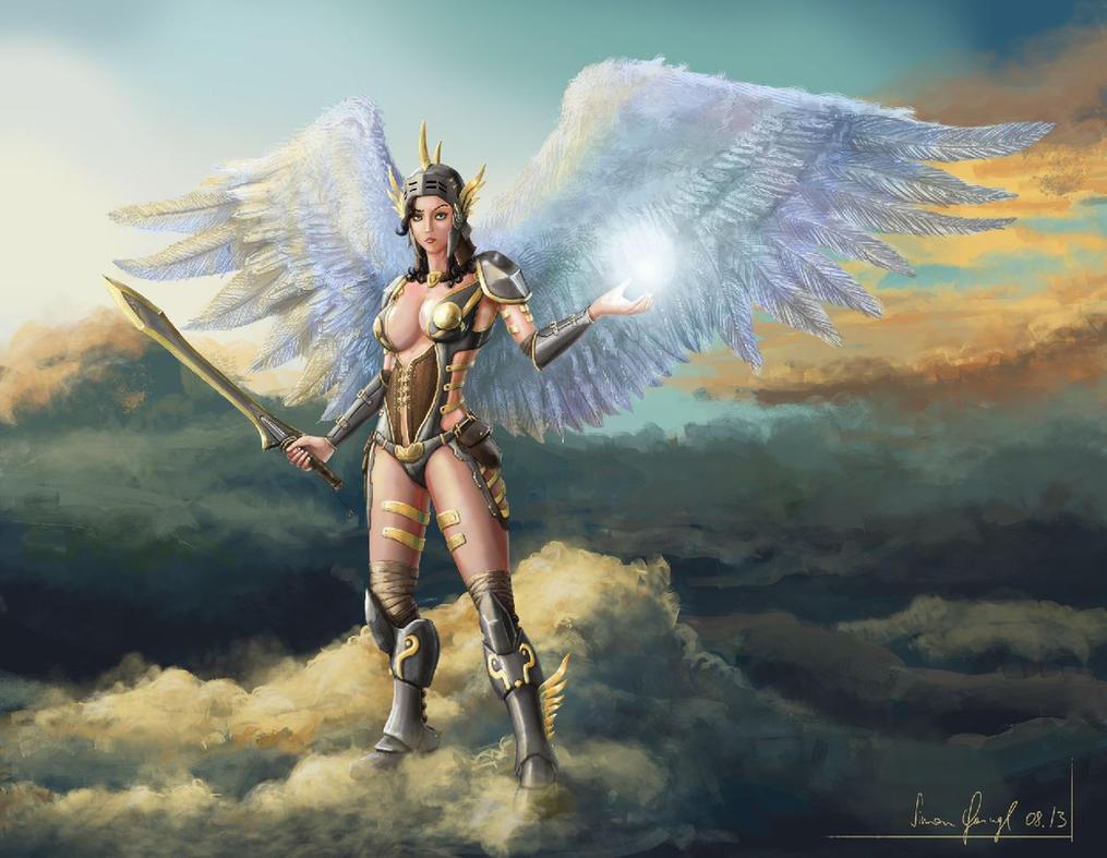 Female Warrior Angel by SimonGangl on DeviantArt