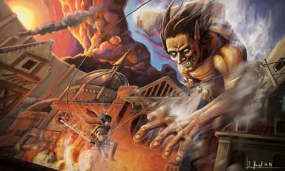 Shingeki no Kyojin - Attack on Titan by SimonGangl