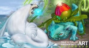 Ivysaur VS Seel - Simon Pokemon Battle Art