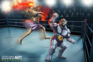 Pokemon Battle Art - Hitmonchan VS Machoke
