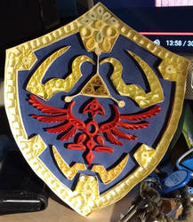 Hylian Shield quilled v2