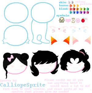 Cute Kitty Sprites