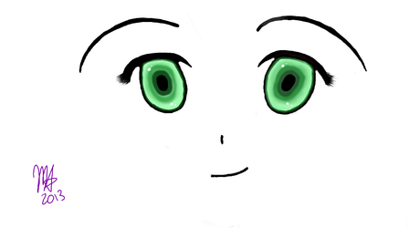 Anime Eyes Drawing By Mirabell416 On Deviantart