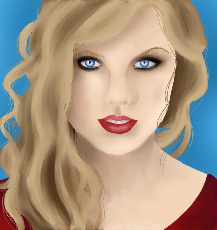 how to draw taylor swift realistic