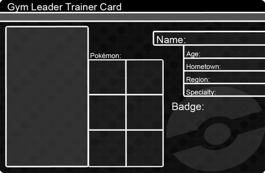 Khfant 73 12 Gym Leader Trainer Card Template By