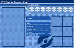 Pokemon Trainer Card Template Blue by khfanT