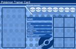 Pokemon Trainer Card Template Blue