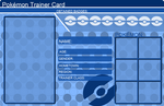 Pokemon Trainer Card Template Blue