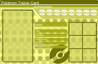 Kuching Sama 3 252 522 Pokemon Trainer Card Template Yellow By Khfant