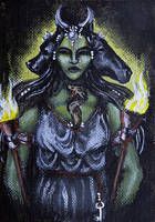Hekate: Goddess of Crossroads by Hellfurian-Guard