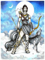 Artemis: Goddess of the Hunt by Hellfurian-Guard