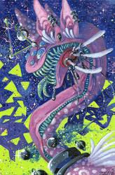 Kitten in Space by Zenophrenic