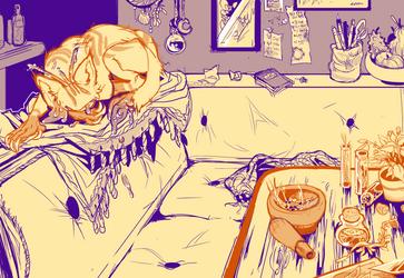 CMM - gelatinous houseguest by Zenophrenic