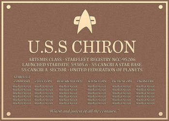 USS Chiron Dedication plaque