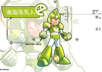 Green rockman by zhengyucong