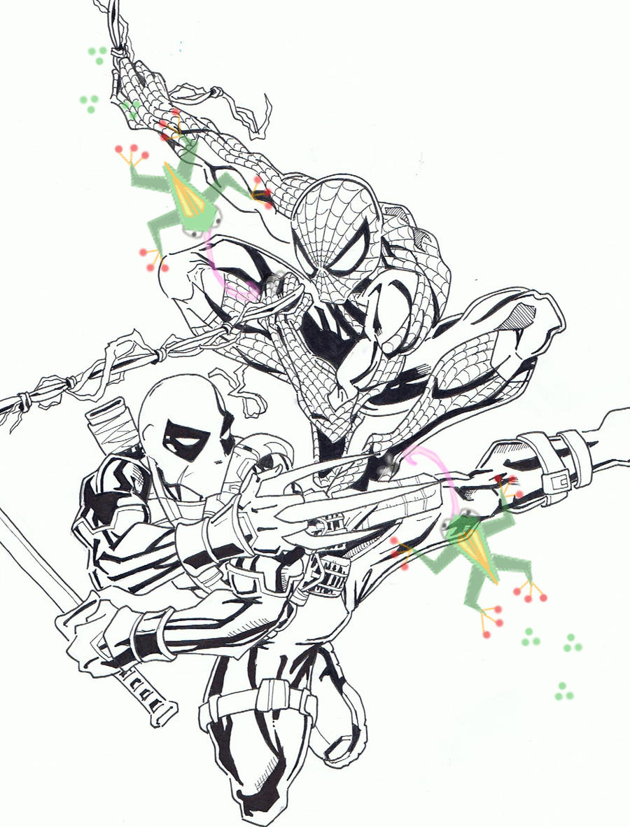 Spider Man And Deadpool By PookyWooky On DeviantArt