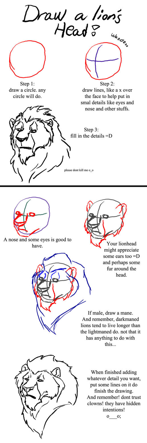how to draw a mountain lion head