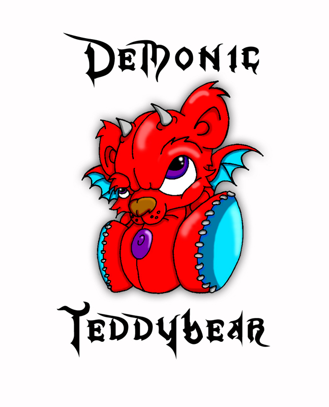 The Demonic Teddy - chest tattoo