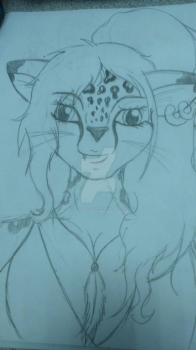 mes dessin et bidouillages d'images. :3  Femme_guepard__by_littleowlgraph-d8el2ba