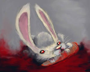 imposter bunny with blood