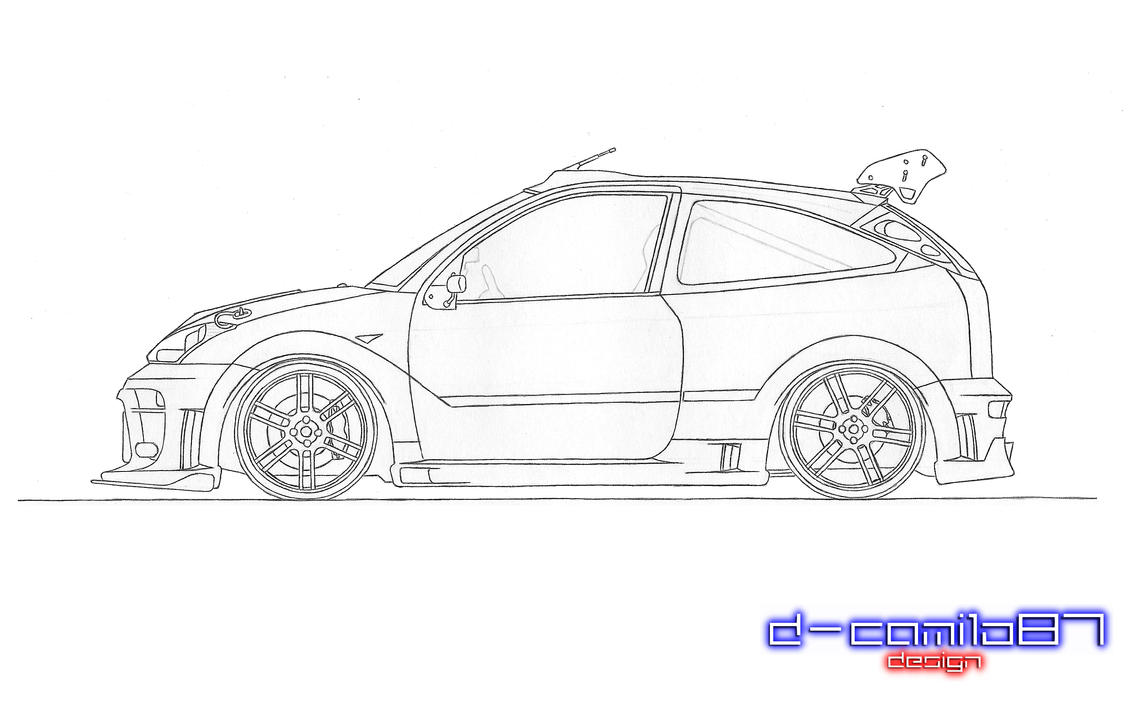 ford focus technical drawing