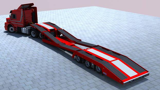 Scania + Estepe TTT(truck transport trailer)