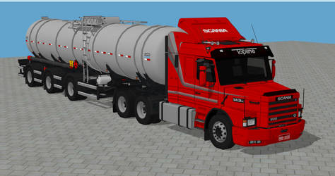 Scania T143H tanker by d-camilo87