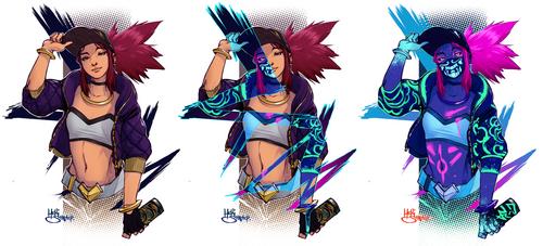 Akali (3 colors) by Heri-Shinato