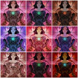 Alita (9 versions) by Heri-Shinato