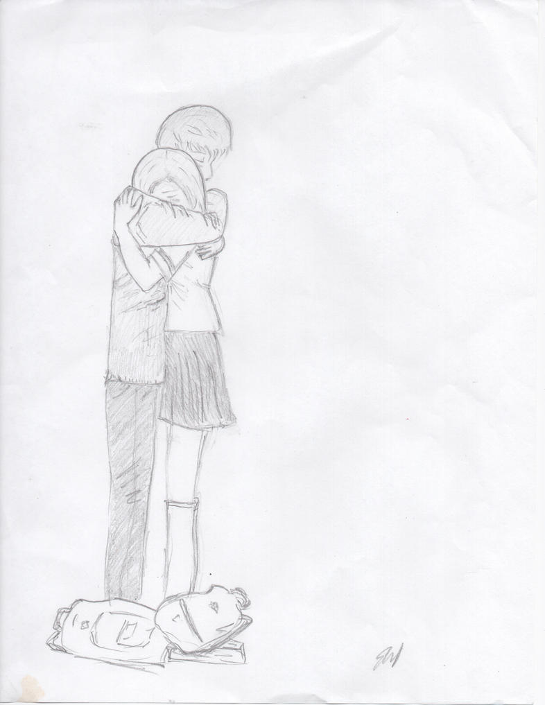 Hugging Couple Drawing Couple Hugging by imia...