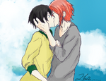haruka and rin - free!
