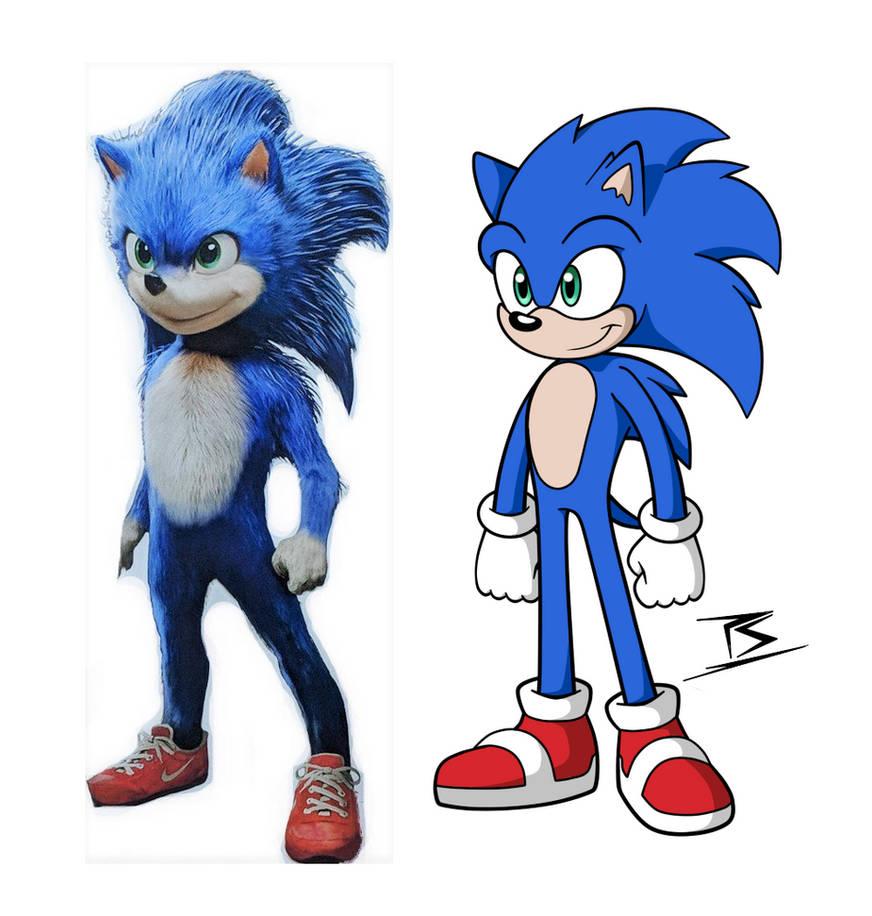 Sonic Movie Design Fixed By Sarkenthehedgehog On Deviantart