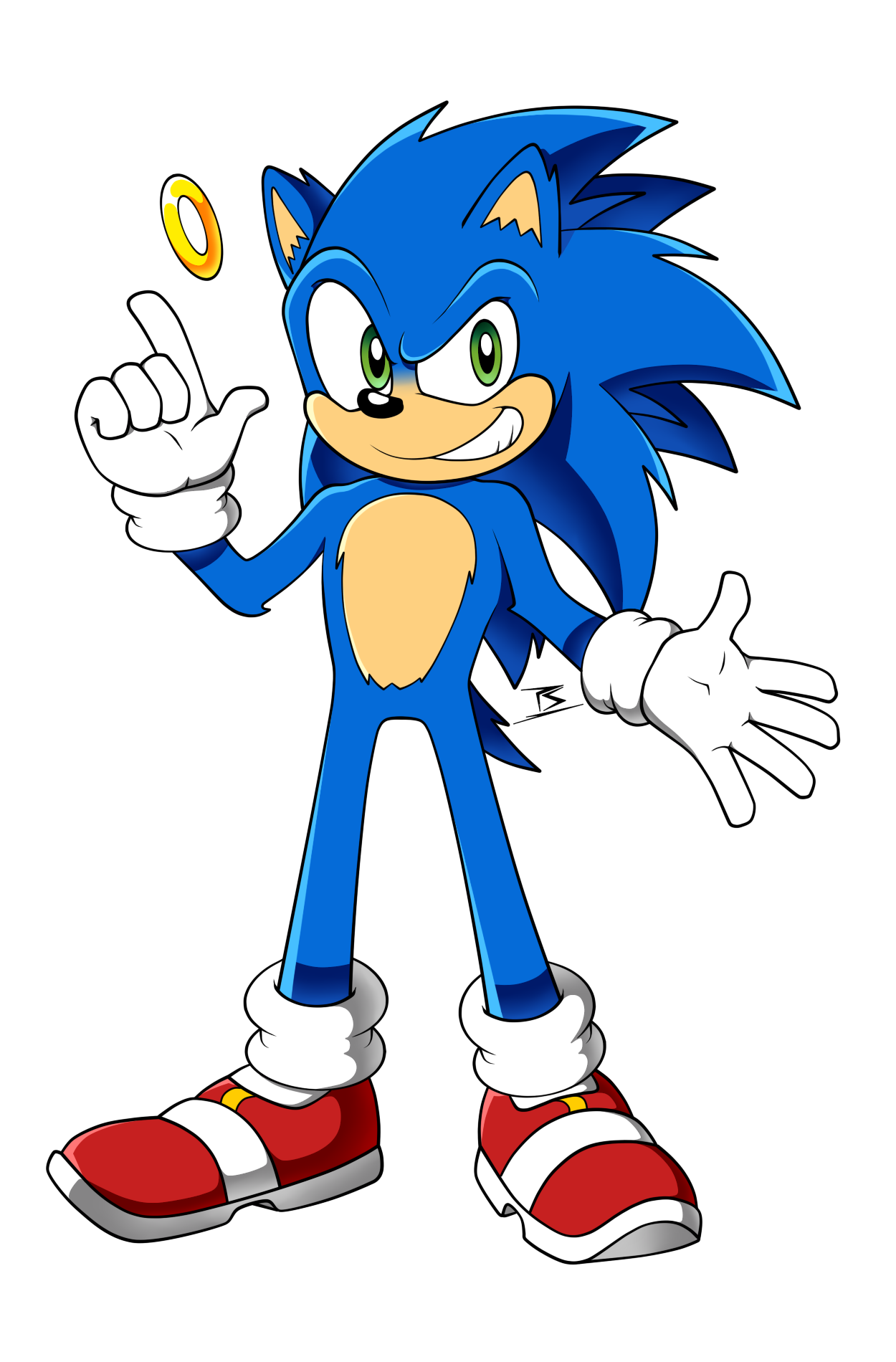 Movie Sonic Redesign By Sarkenthehedgehog On Deviantart