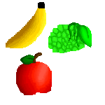 .:Fruits:. Apples and grapes and bananas OH MAI by Toppaw