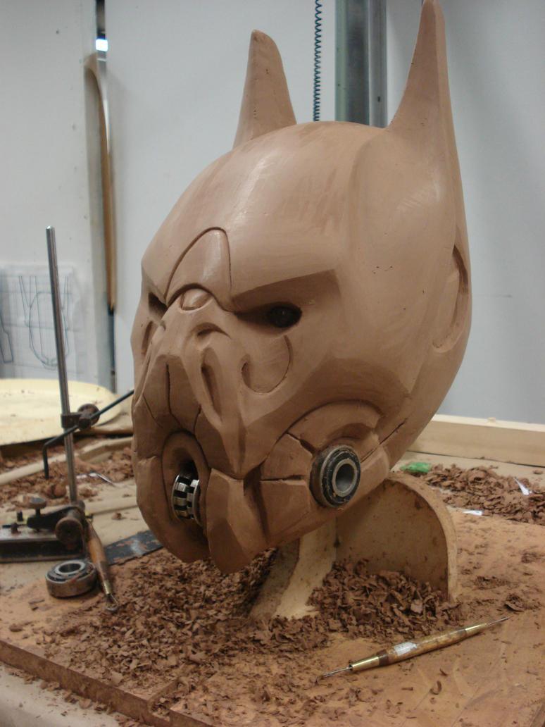 Cybernetic Batman Helmet WIP by KangJason