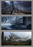 Burial Planet Environments by KangJason