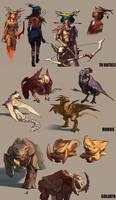 The Big Game Huntress Sketches