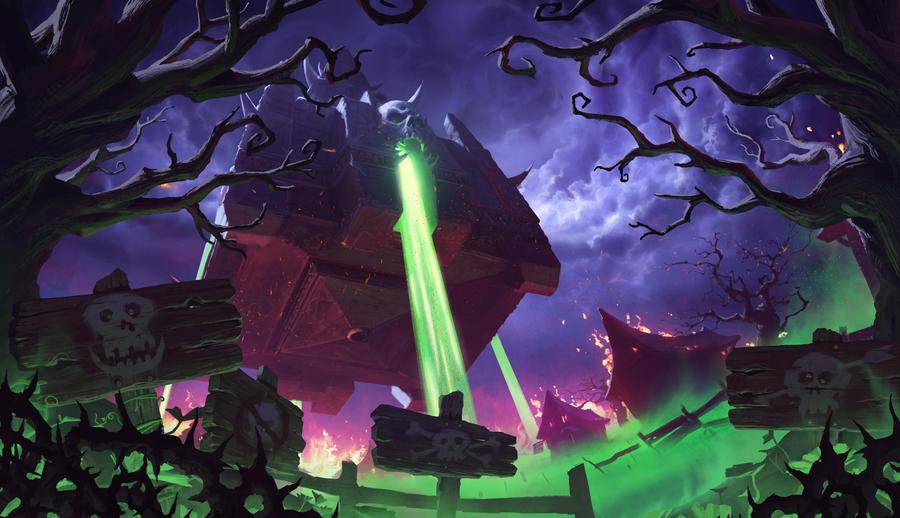 Naxxramas - Hearthstone: Curse of Naxxramas by KangJason