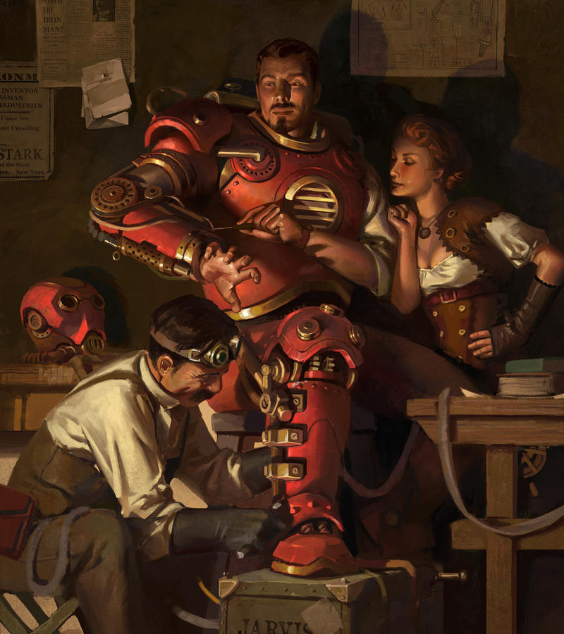 Steampunk Ironman by KangJason