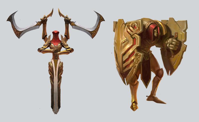 Battleborn Statue Concepts by KangJason