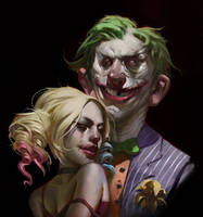 Joker and Harley by KangJason