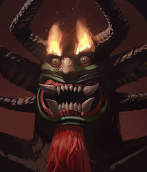 Aku from Samurai Jack (Painting Tutorial) by KangJason