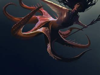 Squid Lady by KangJason