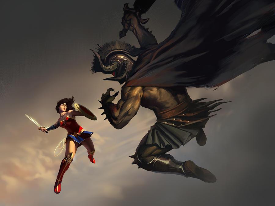 ares vs wonder woman - HD3840×2160