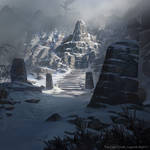The Elder Scrolls: Legends - Mount Anthor by KangJason