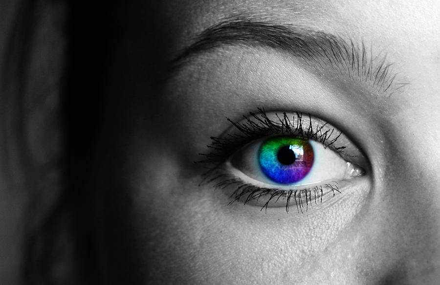 Colorful Eye Photography Colored Eye by Lizewolz