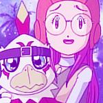 Miyako and Hawkmon_Avatar by DikPeach92