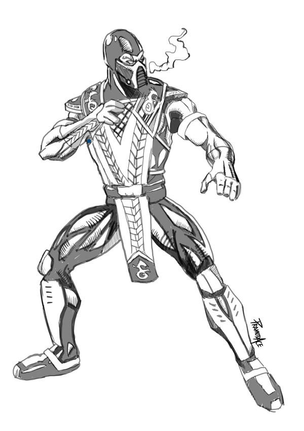 Mortal Kombat Coloring Pages Subzero | Coloring Pages