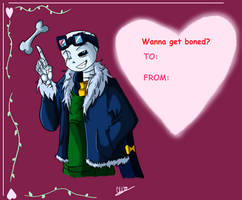Valentines Day Card -Reset Sans- by lady-freya