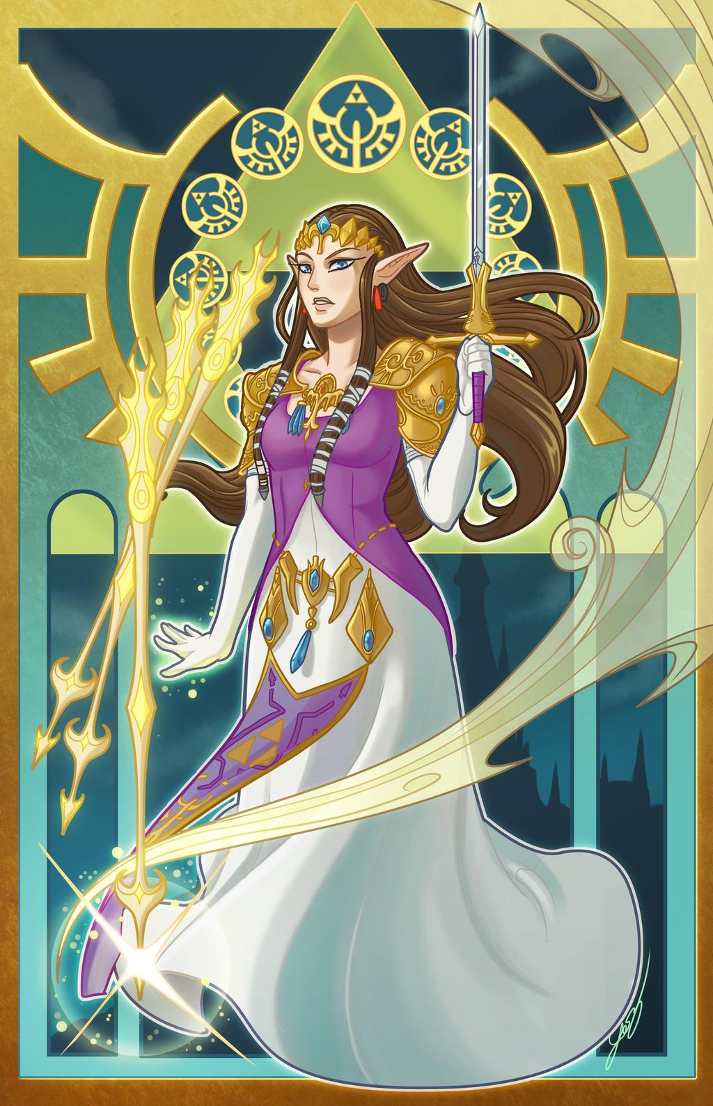 Zelda Nouveau by evui